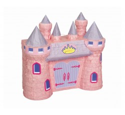 Piniata Zamek różowy, 37x42 cm