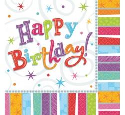 Serwetki Happy Birthday, 33...