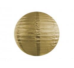 Lampion papierowy, złoty, 20cm