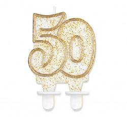 """Świeczka cyferka """"50"""",..."""