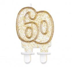 """Świeczka cyferka """"60"""",..."""