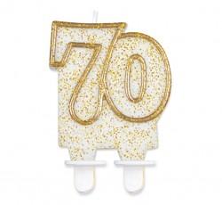 """Świeczka cyferka """"70"""",..."""