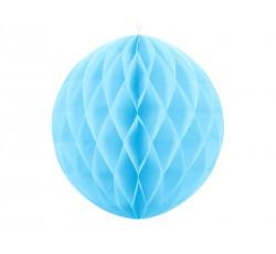 Kula bibułowa, błękit, 20cm