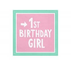 Serwetki 1st Birthday Girl,...