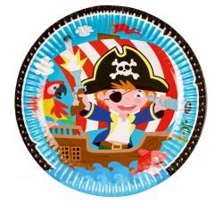 Talerzyki Pirat, 23cm, 8 szt.