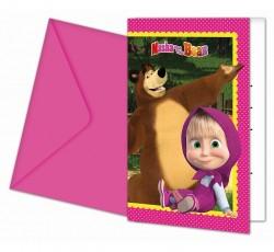 Zaproszenia z kopertą Masha...