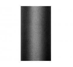 Tiul gładki, czarny, 0,15 x...