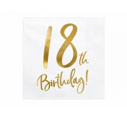 Serwetki 18th Birthday,...