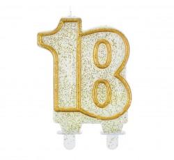 """Świeczka cyferka """"18"""",..."""