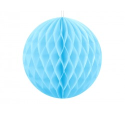 Kula bibułowa, błękit, 10cm