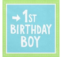 Serwetki 1st Birthday Boy,...