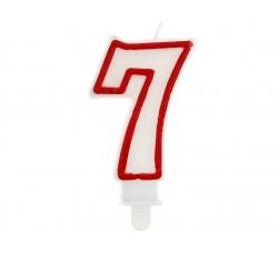 """Świeczka cyferka """"7"""",..."""