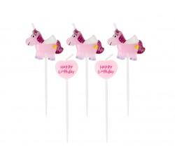 Świeczki pikery, różowy...
